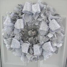 Handmade 12Inch Unique Christmas Rag Wreath