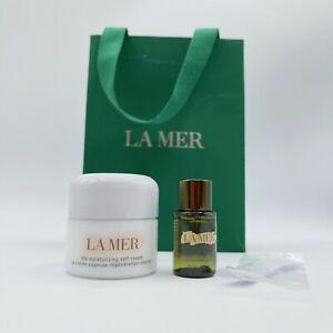 LA MER The Moisturizing SOFT Cream 0.5OZ/15ml New Sealed + Cleanser Sample