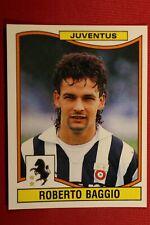 PANINI CALCIATORI 1990-1991 N. 165 BAGGIO JUVENTUS NEW MINT!