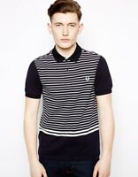 Fred Perry Striped Polo Shirt - Black - Small & Medium