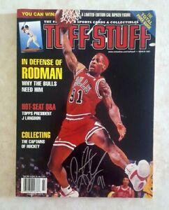 Dennis Rodman Signed Tuff Stuff Magazine with Photo Chicago Bulls
