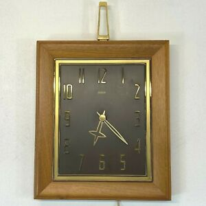 Vintage Sunbeam Cromwell Wall Clock FOR PARTS OR REPAIR A-510 w/ Orig Box BSH