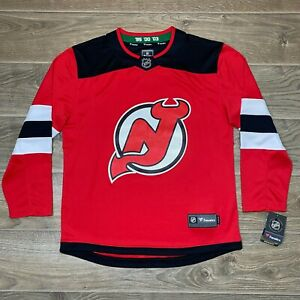 New Jersey Devils Fanatics NHL Ice Hockey Jersey Shirt Trikot size M