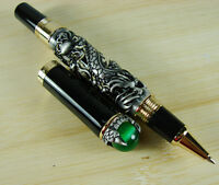 Jinhao Black Dragon Playing Pearl Rollerball Pen with Jewelry On Top Vintage Pen