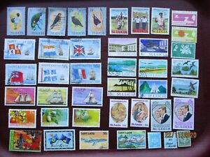 40 St LUCIA  STAMPS (lot B) all eras