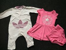 Baby Girl Converse Dress with knickers And Adidas Romper All In One 3-6 Months