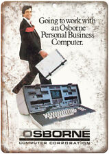 "Osborne Computer Corporation PC Ad 12"" x 9"" Retro Look Metal Sign D91"