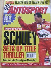 AUTOSPORT MAGAZINE SEP 1998 TIP FOR F1 CHAMP FERRARI MONZA GLORY ITALIAN CARDS