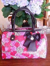 Betsey Johnson pink and red roses handbag