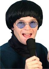 Beatles Oasis 60's 1960's Black Bowl Pop Fancy Dress Wig Accessory P353