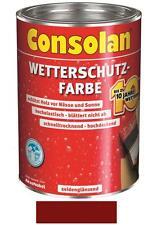 Consolan Wetterschutz-Farbe Rotbraun 2,5 Liter NEUWARE Art. Nr. 5087485