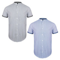 Mens Brave Soul Short Sleeve Shirt Grandad Henley Collar SS19 NEW Sizes S-XL