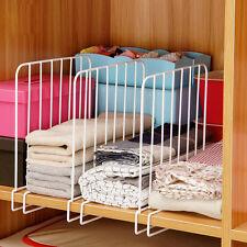 3 x Closet Wire Shelf White Divider Clothing Storage Wardrobe Cupboard Organizer