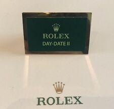Muy Raro Original Rolex Día Fecha II Pantalla Placa