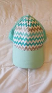 Claires hat turquoise trucker hat