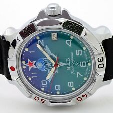 RUSSIAN VOSTOK (# 811818 PARATROOPER) MILITARY WRIST WATCH KOMANDIRSKIE  NEW