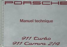 PORSCHE 911 Turbo 911 Carrera 2/4 Manuel technique 1992  WKD 964 BA