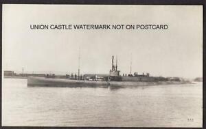 REAL PHOTO PLAIN BACK POSTCARD ROYAL NAVY WW1 SUBMARINE K3 VICKERS 1916 c1935