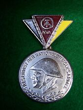 East German Reservist Medal, silver colored.