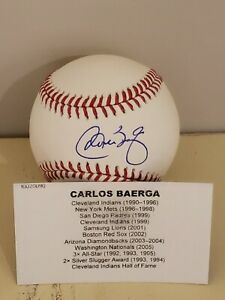 2021 Tristar Hidden Treasures Carlos Baerga Autographed Baseball OLMB HOF