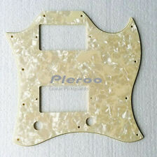 Gibson SG Full Face Guitar pickguard With PAF Humbuckers , 4 Ply Cream Pearl