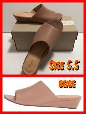 CLARKS Parram Waltz BEIGE Leather Women's Wedge Sandals (31876) Size 5.5 US NIB