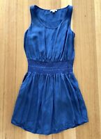 Country Road Blue Short Summer Dress with Pockets, Size 16, Excellent Condition