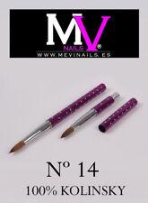 Pincel Kolinsky  100% Nº 14 Mevinails - Acrilico  porcelana  pinceles - nail art