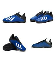 Adidas Boys X 19.4 TF Junior Soccer Football Boots Kids Astro Turf Shoes Blue
