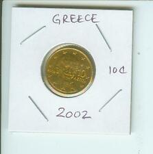 2002   10€-Cents  10-€-Cents  GREECE 10 Euro-Cents Coin
