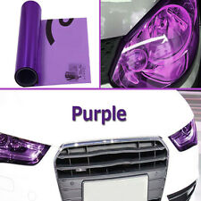 12*60 Purple Auto Car Smoke Headlight Fog Light Tint Film Vinyl Wrap Decors