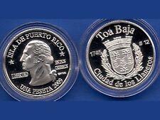 Silver PESETA TOA BAJA 2009 Puerto Rico Boricua Quarter 1/100 Plata