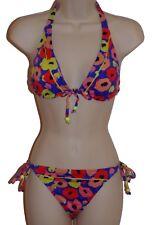 Bar III bikini set swimsuit size M multi-color floral halter nwt