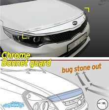 Bonnet Hood Guard Chrome Garnish Deflector 2Pcs For KIA 2016 Optima K5 MX & SX