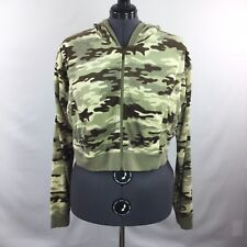 Apollo Juniors Hooded Jacket Cropped Hoodie Camo Full Zip Plus Size 3X