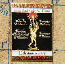 "TUCSON FIESTA BOWL BASKETBALL CLASSIC 1999 BANK ONE METAL 1 1/4"" LAPEL PIN"