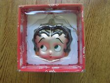 "BETTY BOOP VINTAGE HEAD CHRISTMAS ORNAMENT-5"" HIGH-1998-NEW IN BOX!"