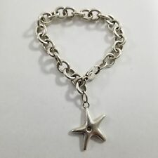 GORGEOUS!!! Tiffany & Co. Sterling Silver .925  Starfish Bracelet Size 7.5""