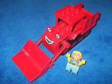 LEGO DUPLO BUDDEL BOB DER BAUMEISTER ROTER BAGGER AUS 3924 3289 3294 3596 RAUPE