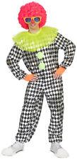 Clown Kokki Costume for Men's - Black White - Harlequin Pierrot Circus Carnival