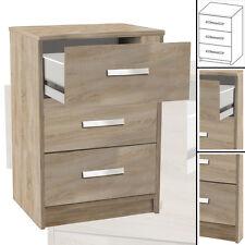 NACHTTISCH #127 sonoma-eiche 3x Schublade Holz Nachtschrank Nachtisch