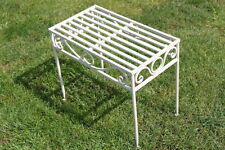 Versailles Style Metal Side Table or Plant Stand in Antique White Finish-small