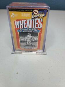 Mini Wheaties Box Babe Ruth 75 Years of Champions 24K Gold SigEncased 1999