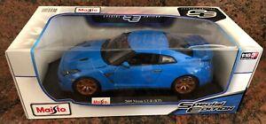 1/18 2009 Nissan GT R (R35) BLUE Maisto Model Die Cast