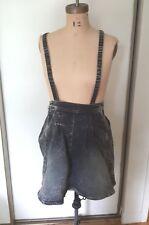 NWT ST. Studio Supertrash denim acid gray  wash overalls jumper mini dress  36 S