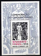 BRAZIL 1972 MODERN ART WEEK  SOUVENIR SHEET SCOTT 1222,  CATALOG $75.00