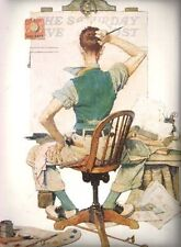 BLANK CANVAS NORMAN ROCKWELL PRINT OCTOBER 1938