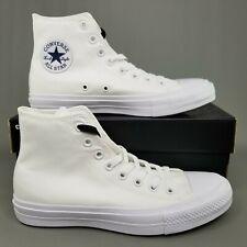 Converse Chuck Taylor All Star II 2 Hi Skate Shoes Mens Size CTAS Triple White