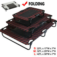 Elevated Pet Cot Dog Bed Raised Camping Sleeper Cooling Mesh Lounger Cat Dog Us