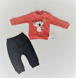 Baby Boy Jungen Outfit Strampler 2-tlg Langarm Pulli Hose 68 80 86 Koala Bambus